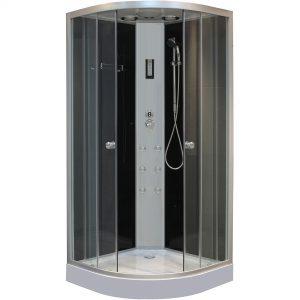 Cabina de dus cu hidromasaj, touchscreen, radio fm, 100x100x210cm