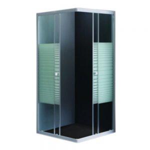Cabina de dus patrata, Belform Grid, Sticla Securizata, 80x80cm
