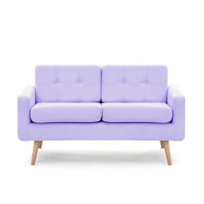 Canapea cu 2 locuri Vivonita Ina, mov pastel