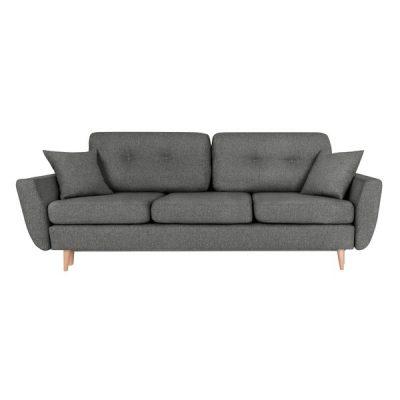 Canapea extensibilă cu 3 locuri Scandizen Rita, gri închis