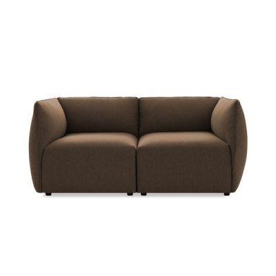 Canapea modulară cu 2 locuri Vivonita Cube, bej închis