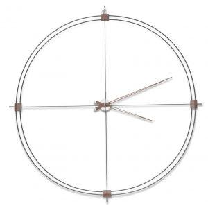 Ceas mare de perete, Diametru 130cm, Inaltime140cm, Fibra de sticla:nuc