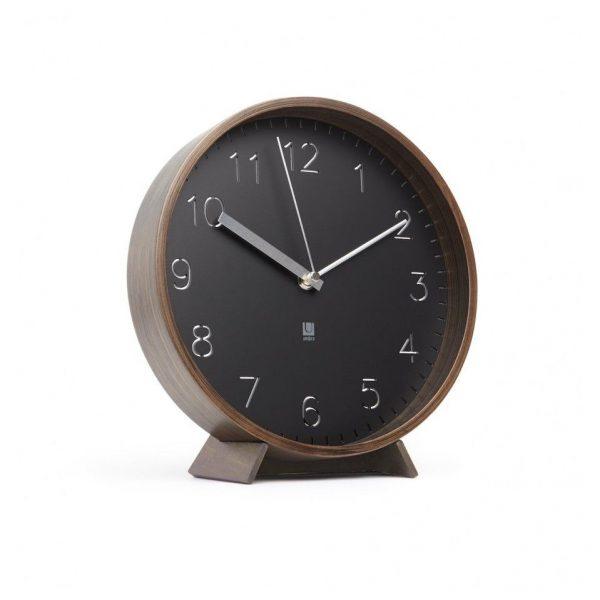 Ceas modern din lemn de nuc Umbra Rimwood