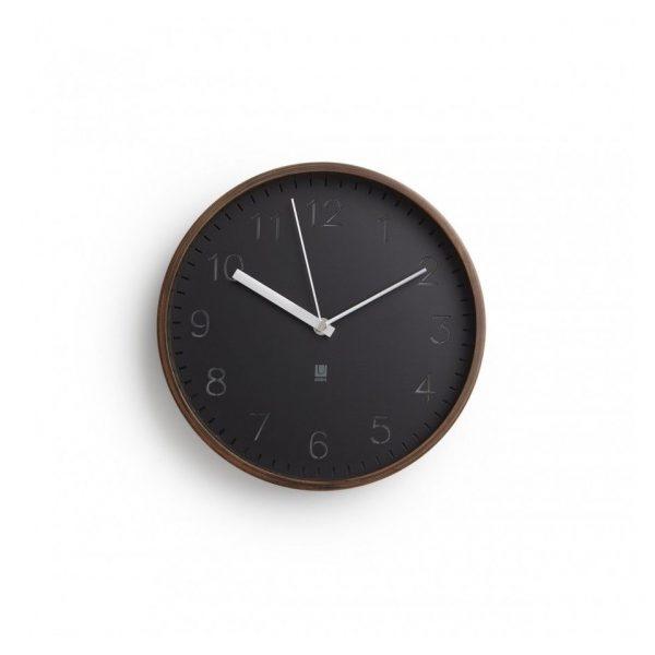Ceas modern din lemn de nuc Umbra Rimwood ceas pentru living