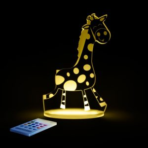 Lampa cu LED pentru copii, Forma de Girafa galbena