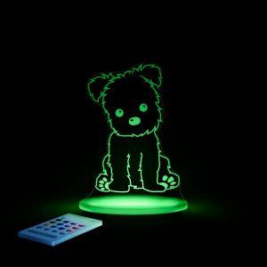 Lampa cu LED pentru copii Forma de catel lampa camera copii verde