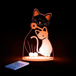 Lampa cu LED pentru copii, Forma de pisica portocalie