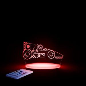 Lampa cu LED pentru copii, Masina lampa rosie pentru copii