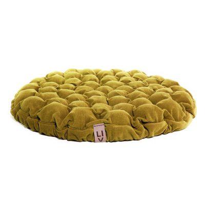 Pernă relaxare cu bile de masaj Lindy Vrňáková Bloom, Ø 75 cm, galben