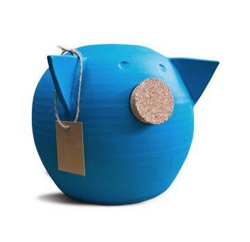 Pusculita ceramica,CHALK, Large, Albastru