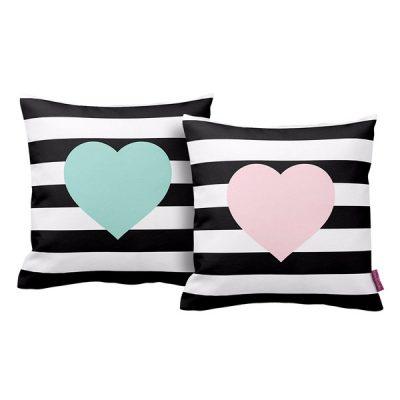 Set 2 perne Homemania Hearts, 43 x 43 cm