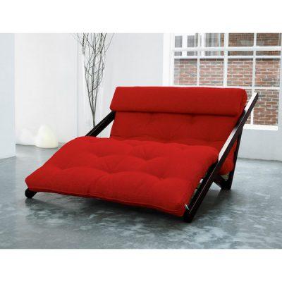 Fotoliu Karup Figo, Wenge/Red, 120 cm