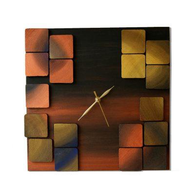 Deco Mystic Ceas de Perete din Lemn 3D Mozaicat