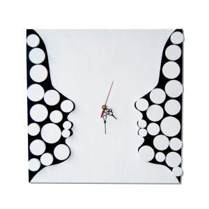 Ceas decorativ de perete, Deco Twins Din Lemn 3D - Deco Box