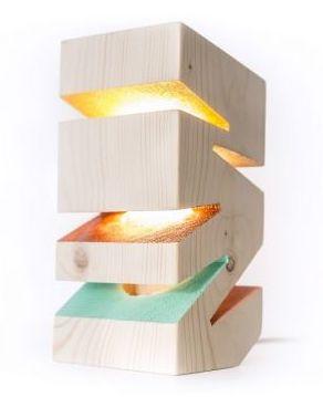 Veioza Deco-Box, Sunrise, lemn masiv, bec led E14, natur