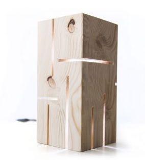 Lampa Deco-Box, Enlightening, lampa lemn masiv, bec led E14, natur
