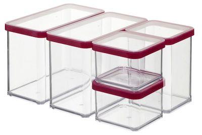 Set 5 cutii alimente Rotho, transparent