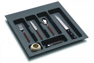 Suport organizare tacamuri,gri orion, montabil in sertar bucatarie, pentru latime corp 500 mm