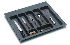 Suport organizare tacamuri,gri orion, montabil in sertar bucatarie, pentru latime corp 600 mm