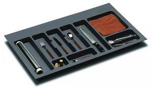 Suport organizare tacamuri,gri orion, montabil in sertar bucatarie, pentru latime corp 900 mm
