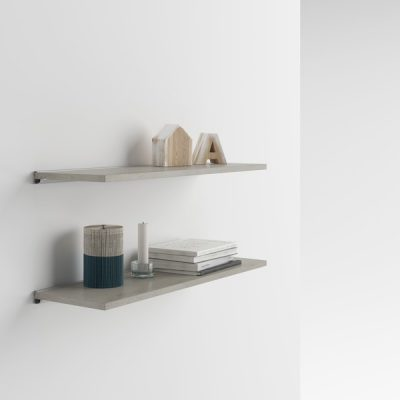 Set 2 rafturi de perete MobiliFiver Mena, 80 x 25 cm, cu aspect de beton