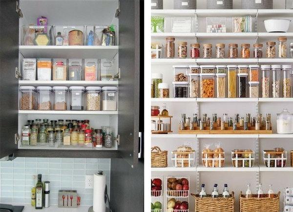 Organizarea dulapului de bucatarie organizare bucatarie spatiu mic idei de depozitare inteligente