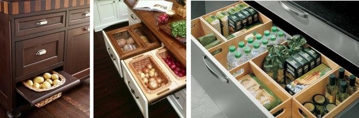 organizarea eficienta a spatiului mic din bucatarie cutii depozitare bucatarie