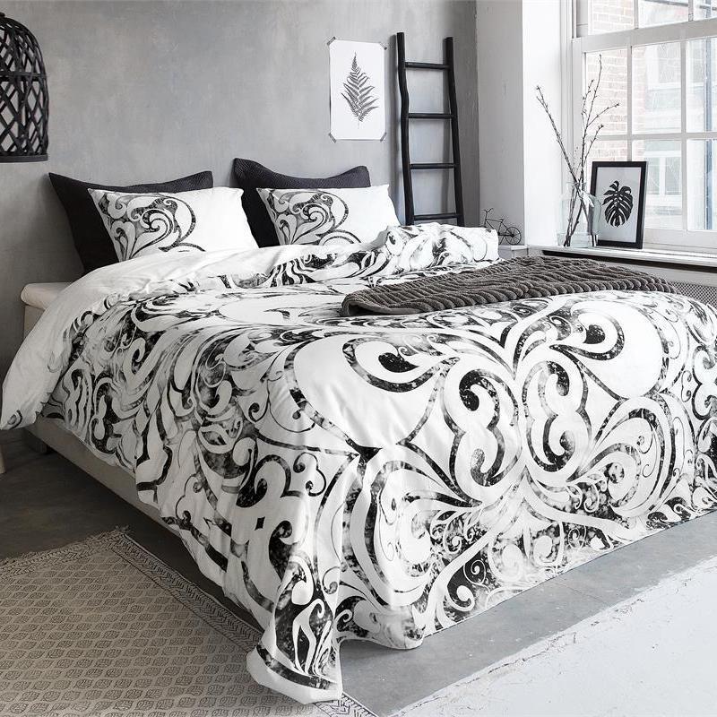 lenjerie de pat de calitate alba moderna