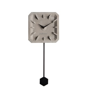 Ceas de perete din beton cu detalii negre Zuiver Tiktak