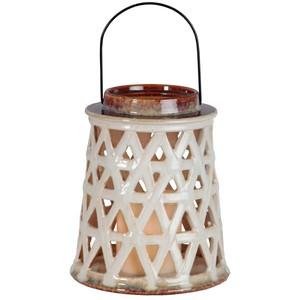 Felinar din ceramică LED Best Season, alb