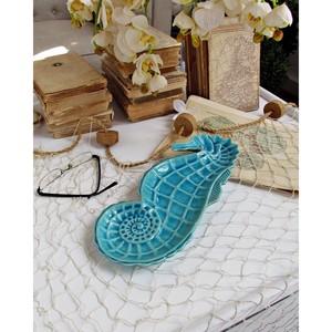 Platou decorativ, lungime 32 cm, albastru