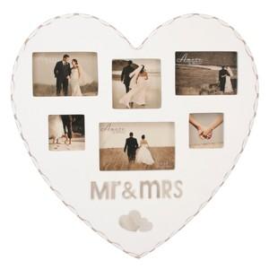Ramă pentru 6 fotografii Amore Mr. and Mrs.