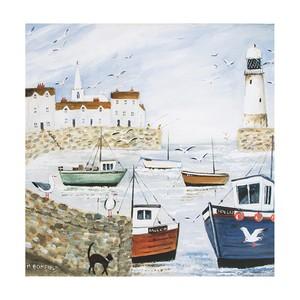 Reproducere tablou Graham & Brown Harbourside Type, 50 x 50 cm
