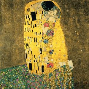 Reproducere tablou Gustav Klimt – The Kiss, 70 x 70 cm