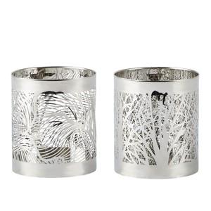 Set 2 sfeșnice Villa Collection Silver stain, 7 cm