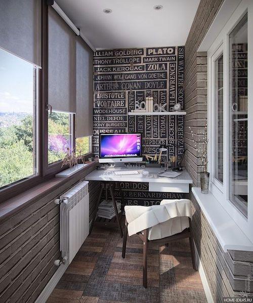 amenajare birou in balcon mobilier balcon