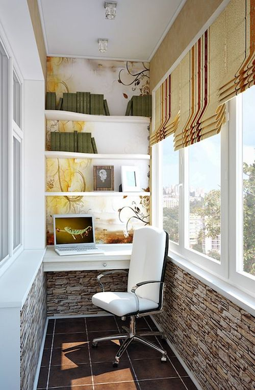 amenajare birou in balcon modern idei