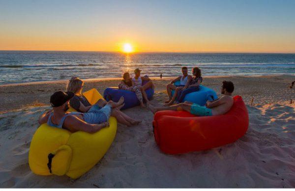 lazy bag canapea gonflabila pentru plaja parc sac gonflabil