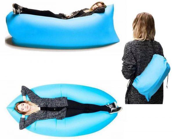 lazy bag sac gonflabil saltea gonflabila