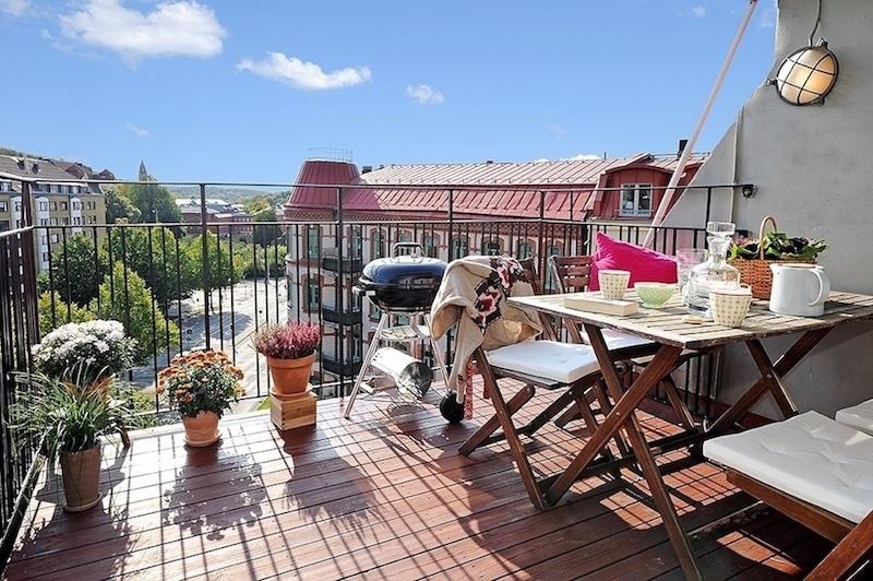 mobilier balcon amenajare balcon deschis
