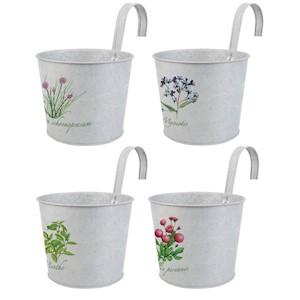 Set 4 recipiente cu cârlig pentru ghivece flori
