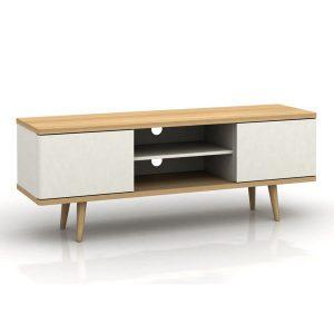 Comoda TV din lemn, Design Daney, Culoare alba-marco