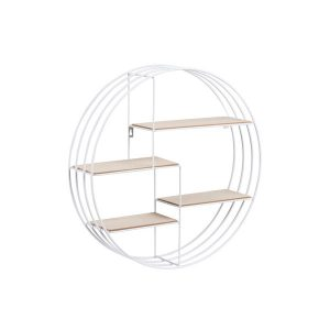 Raft in forma de cerc din lemn si metal, Design modern