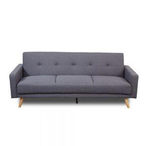 Canapea extensibila 3 locuri, Gri, Design modern, Sigma