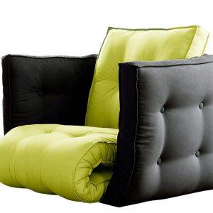 Fotoliu extensibil, Gri cu Verde fistic fotoliu extensibil modern