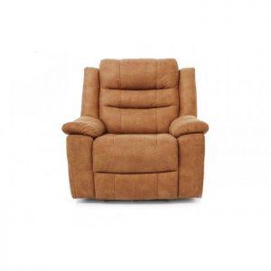 Fotoliu extensibil cu recliner, Design modern, Maro, Tapiterie textil
