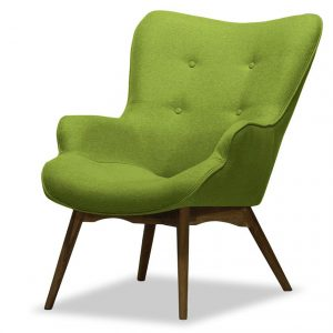 Fotoliu living cu design elegant, Verde