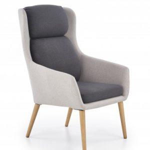 Fotoliu mare living, Gri inchis:deschis, Design scandinav