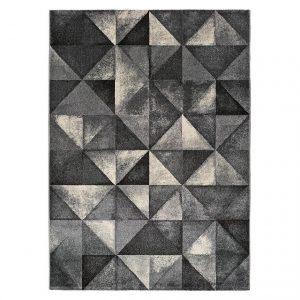 Covor, Stil modern, 5 dimensiuni, Model geometric, Delta Grey