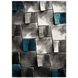 Covor gri 140 x 200 cm, Modern, Imprimeu abstract, Amy Blau